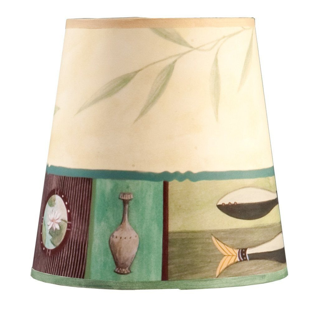 Twin Fish in Celery Accent Drum Lamp Shade