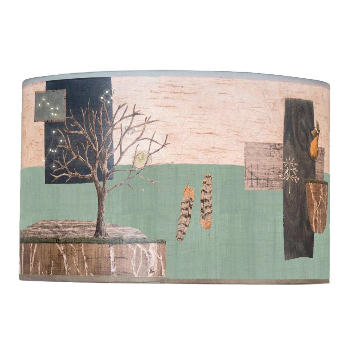 Large Drum Lamp Shade in Wander in Field