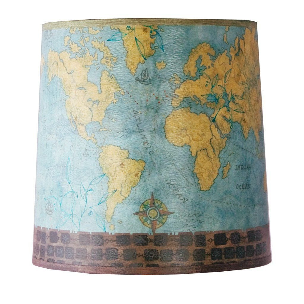 Voyages Medium Drum Lamp Shade