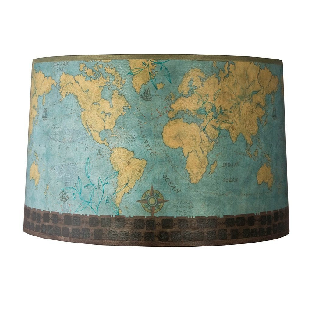 Voyages Large Drum Lamp Shade