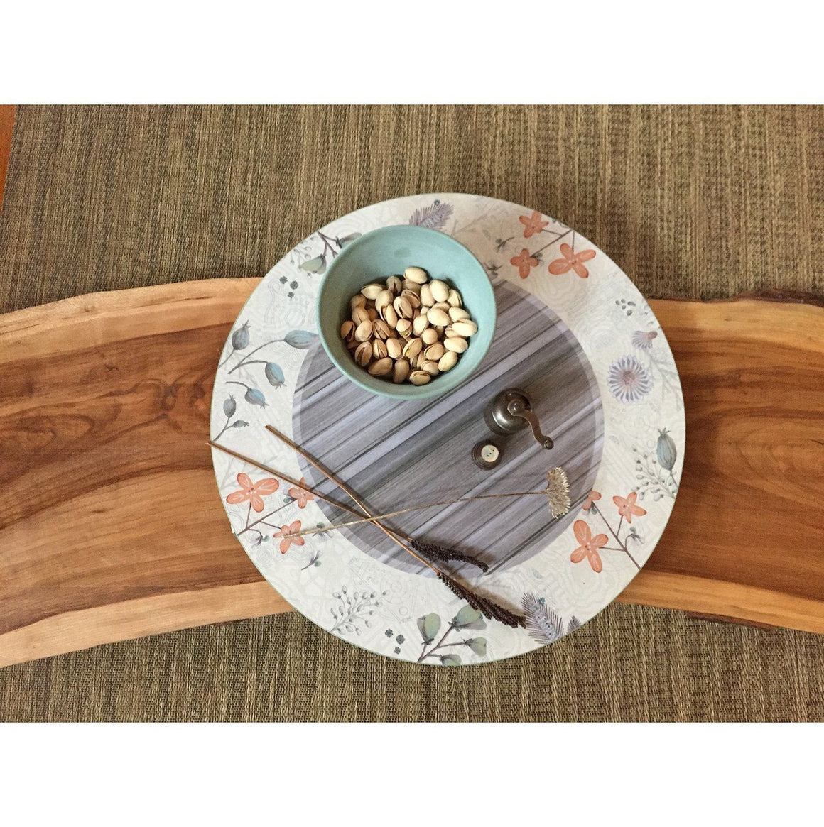 Large Lazy Susan in Flora & Maze