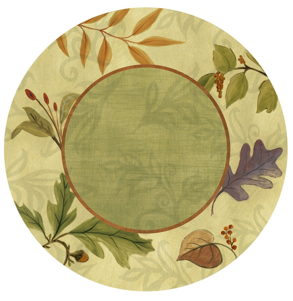 Large Lazy Susan in Forest Leaves