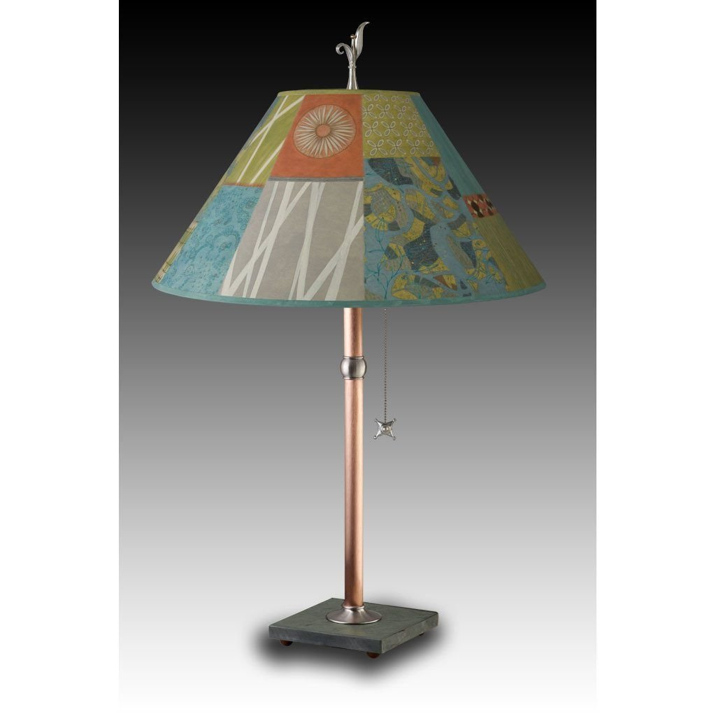 Zest Table Lamp with Large Conical Shade