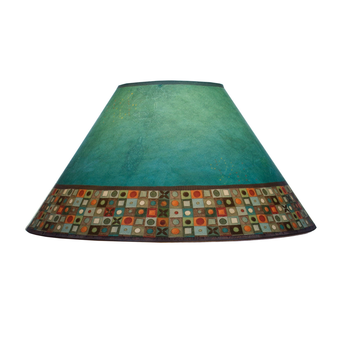 Large Conical Lamp Shade in Jade Mosaic