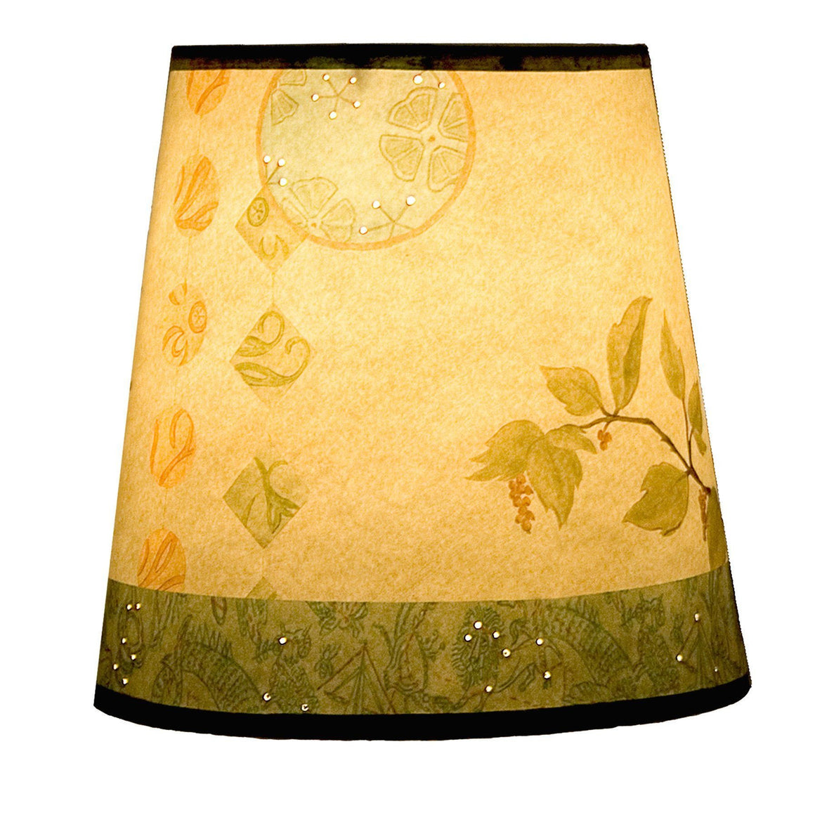 Small Drum Lamp Shade in Celestial Leaf