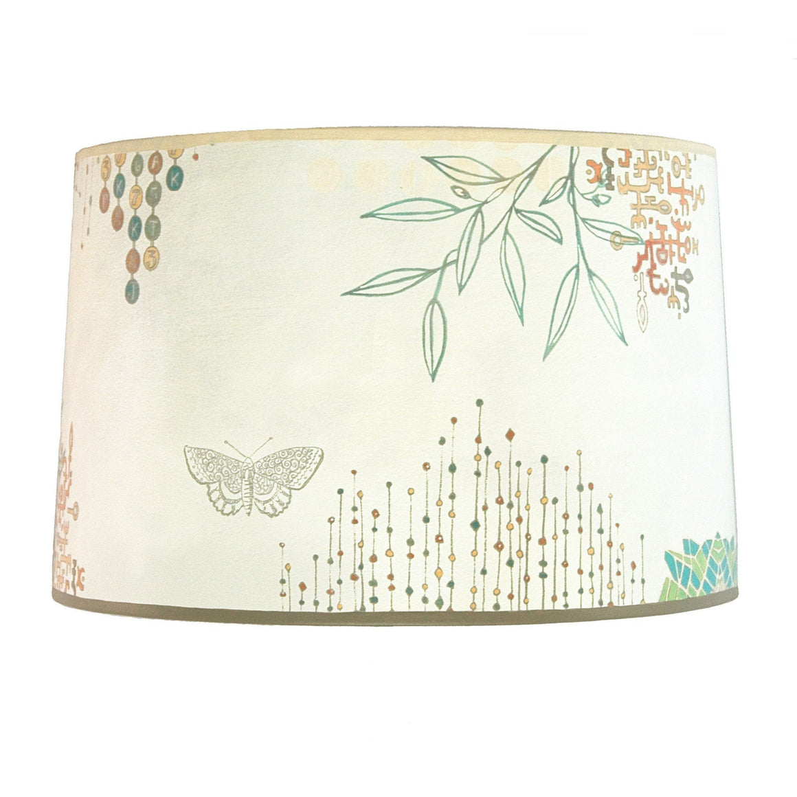 Large Drum Lamp Shade in Ecru Journey