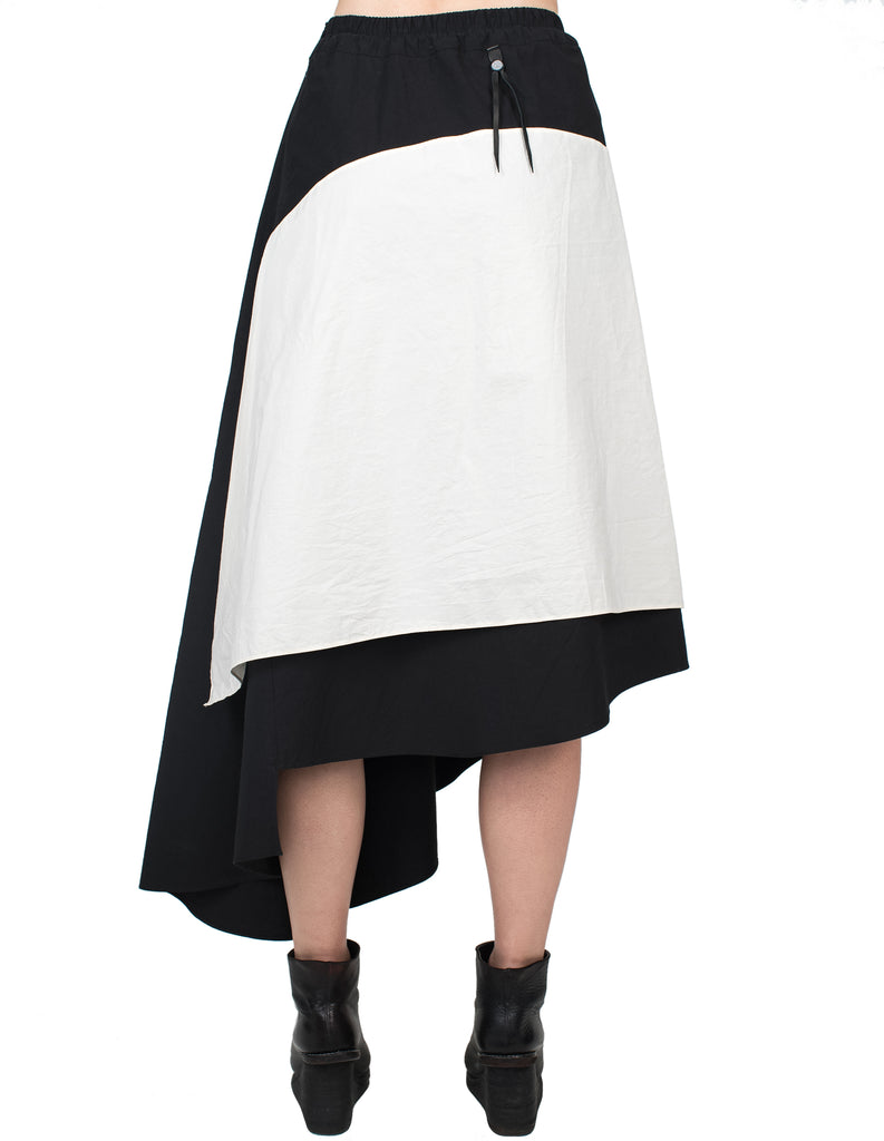 Double-Layered Asymmetrical Skirt