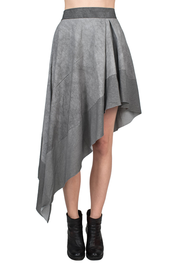 Lined Hem Asymmetrical Skirt