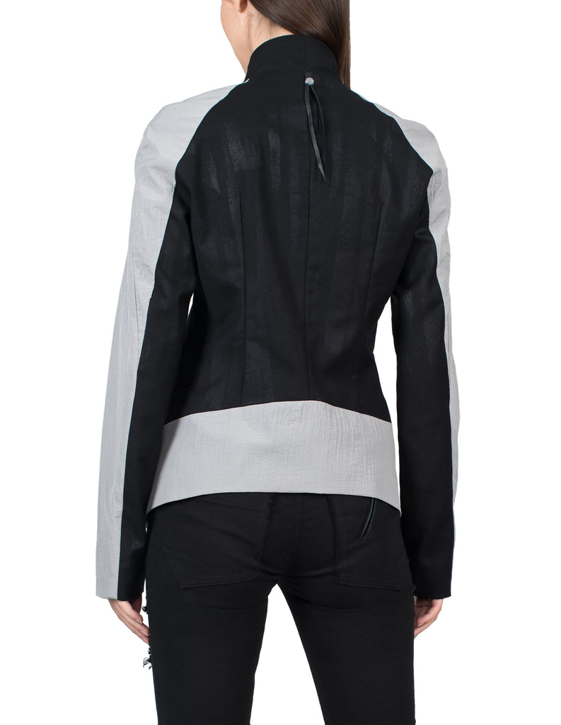 Contrast Panel Suit Jacket