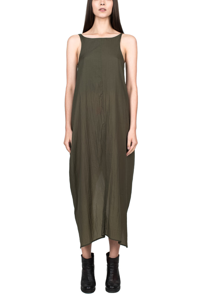 Draped Green Tank Dress