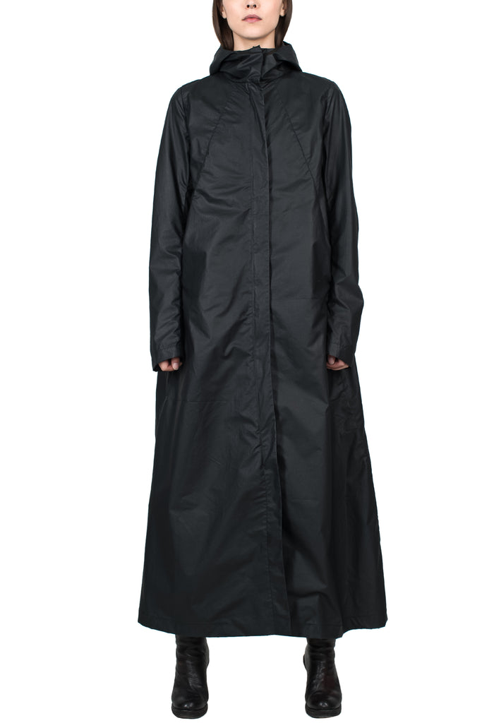 Long Hooded Raincoat