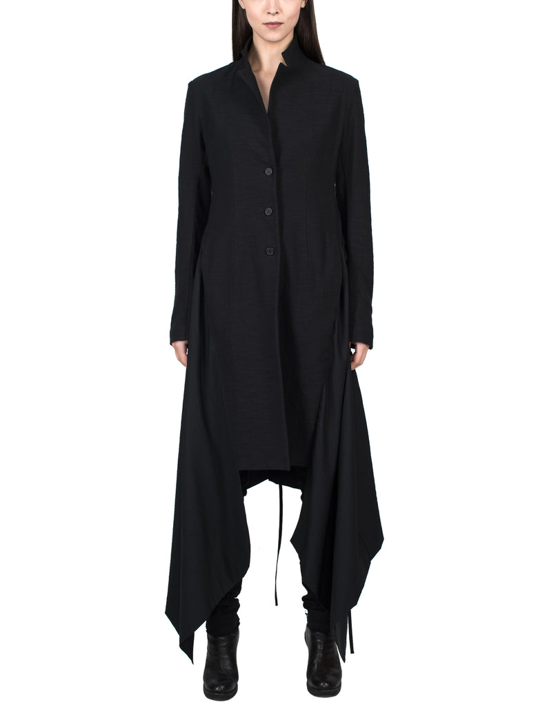 Asymmetric Fitted Coat