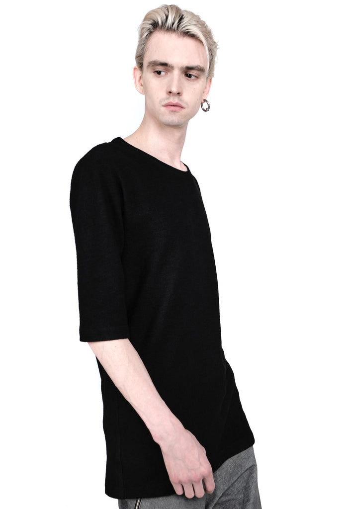 Half-Sleeve Wool T-shirt