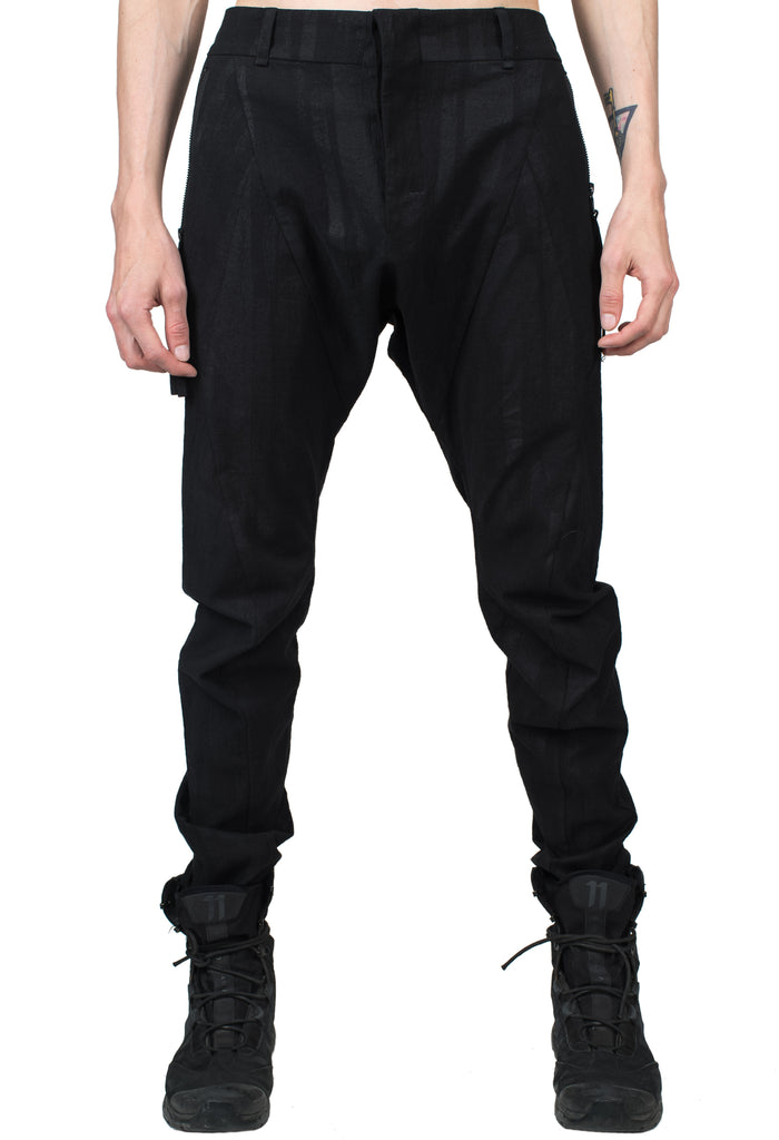 Coated Cotton Stretch Pants