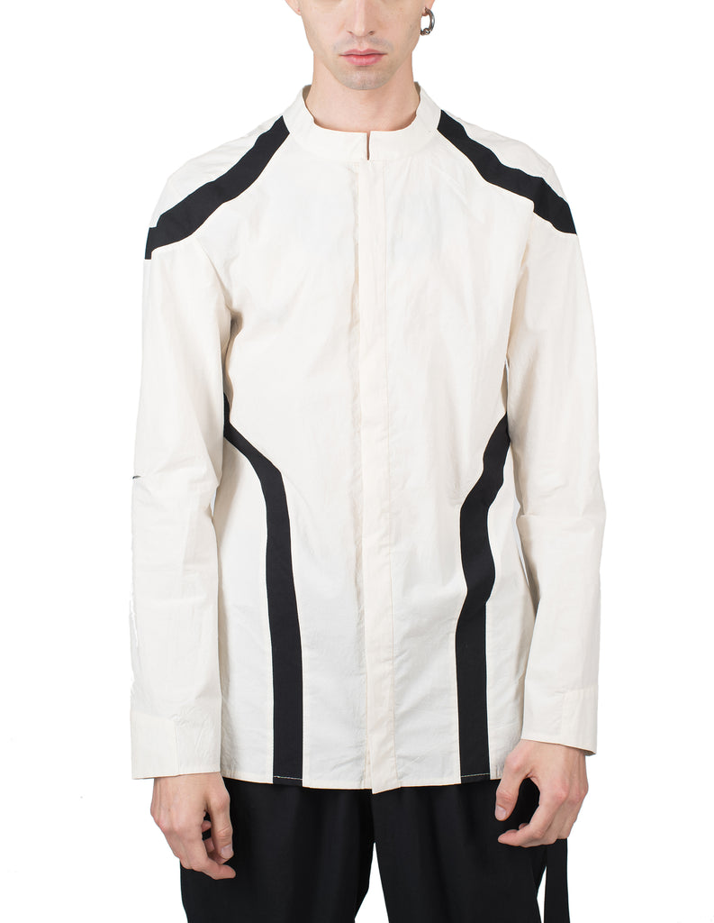 Black-Lined Cotton Shirt