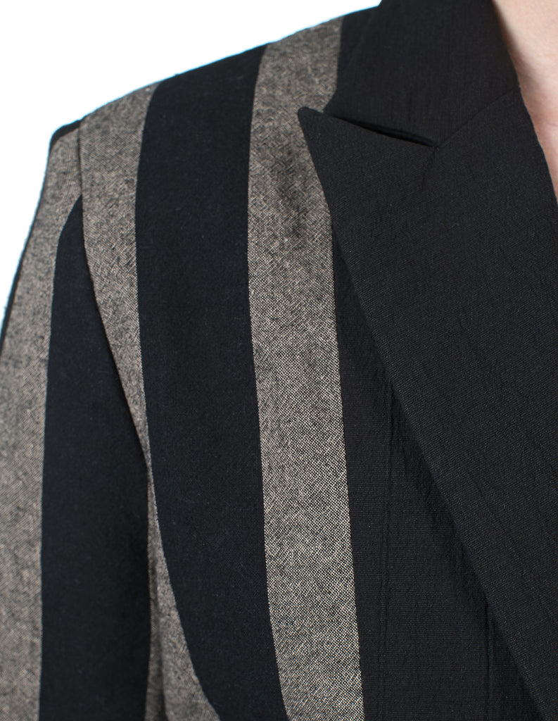 Side-Striped Suit Jacket