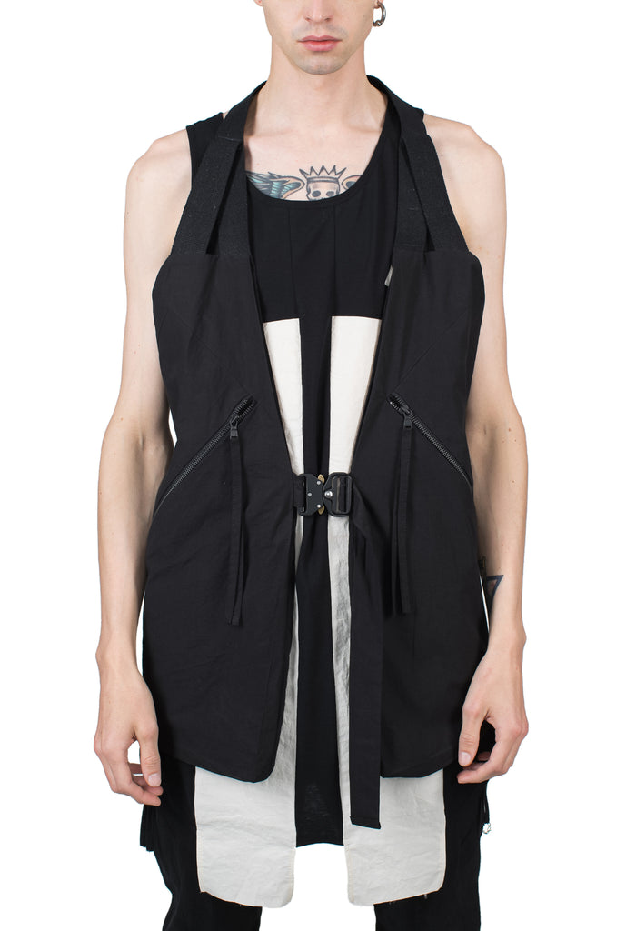 Metal Buckle Cotton Vest