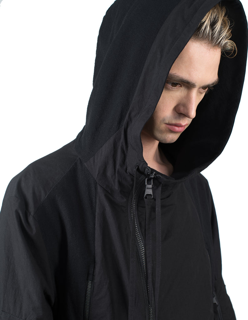 Hooded Cotton Bomber Jacket
