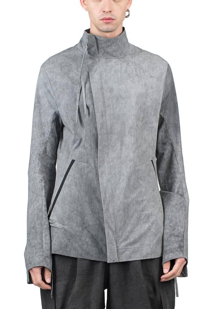 Asymmetric Cuff Cotton Jacket