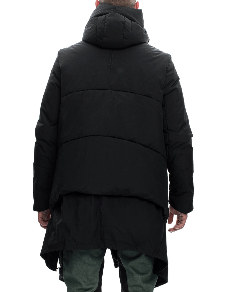Insulated Waxed Nylon Hooded Parka