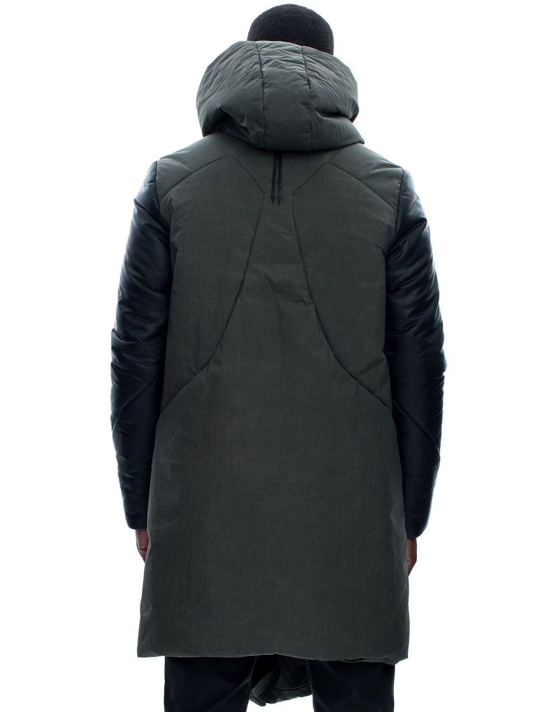 Insulated Hooded Contrast Sleeve Parka