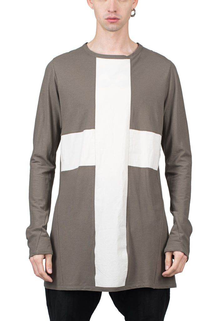 Contrast Cross Longsleeve T-Shirt