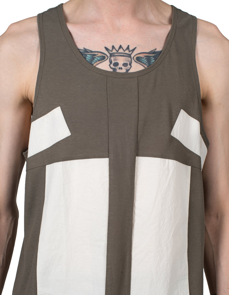 White-Lined Tank Top