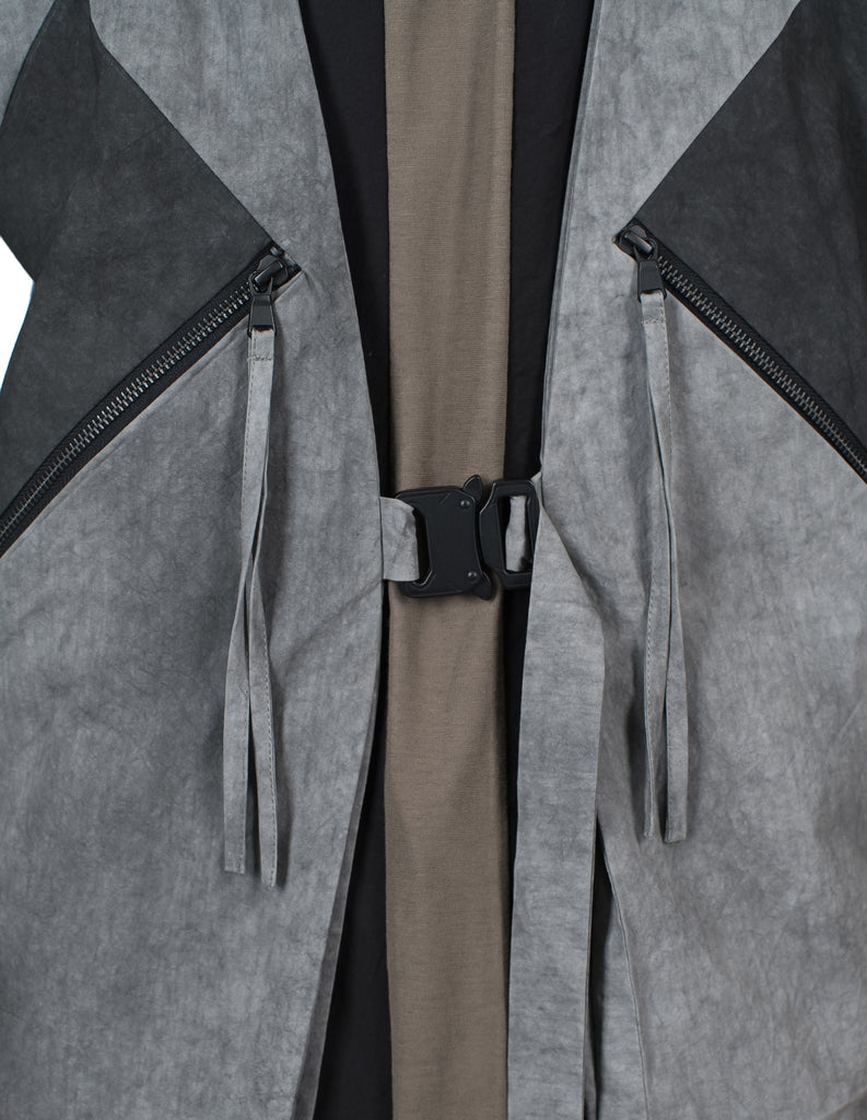 Metal Buckle Grey Vest