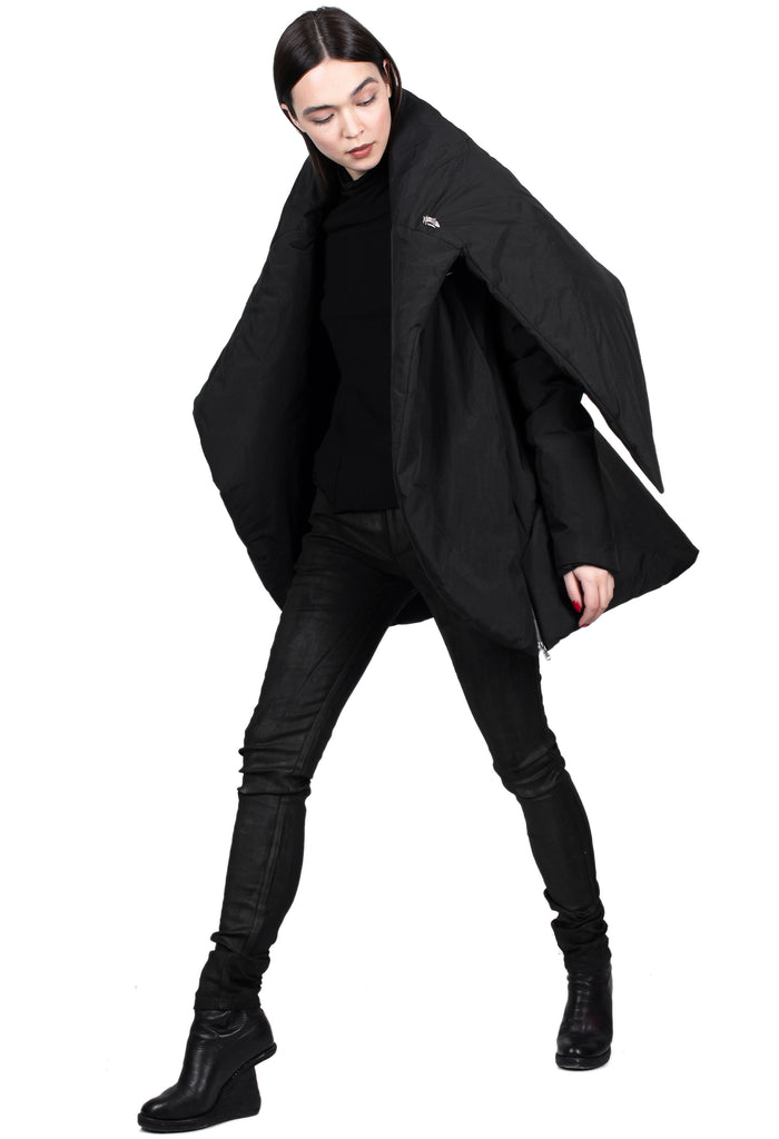 Asymmetric Jacket with Zipper Details