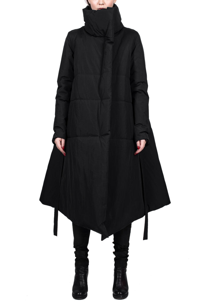 Insulated Asymmetric High-Neck Parka