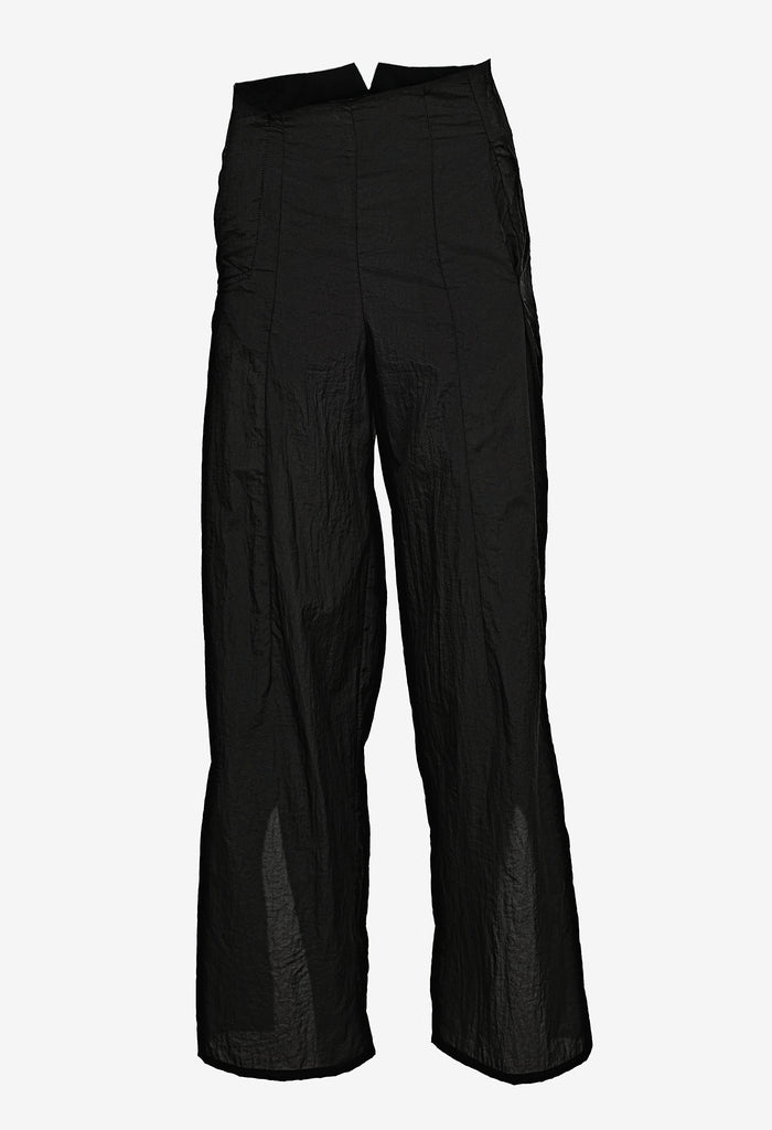 Slit-cuff Nylon Pants
