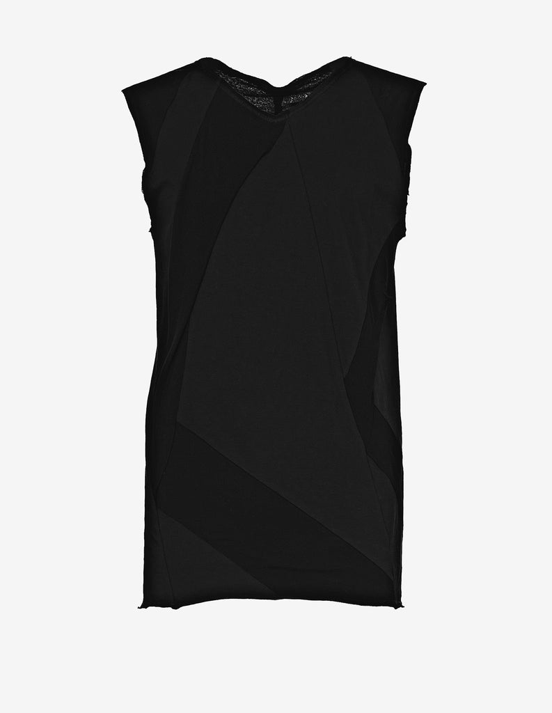 Asymmetric Patchwork Tank Top
