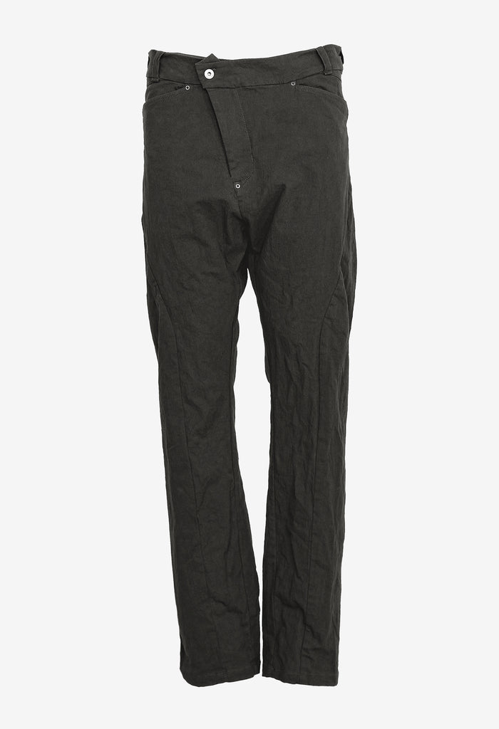 Asymmetric Zip Denim Pants