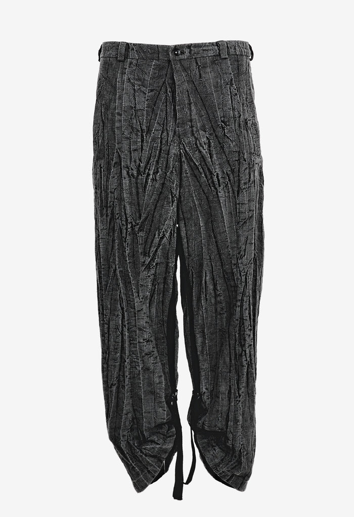 Hand-Dyed Crinkled Pants