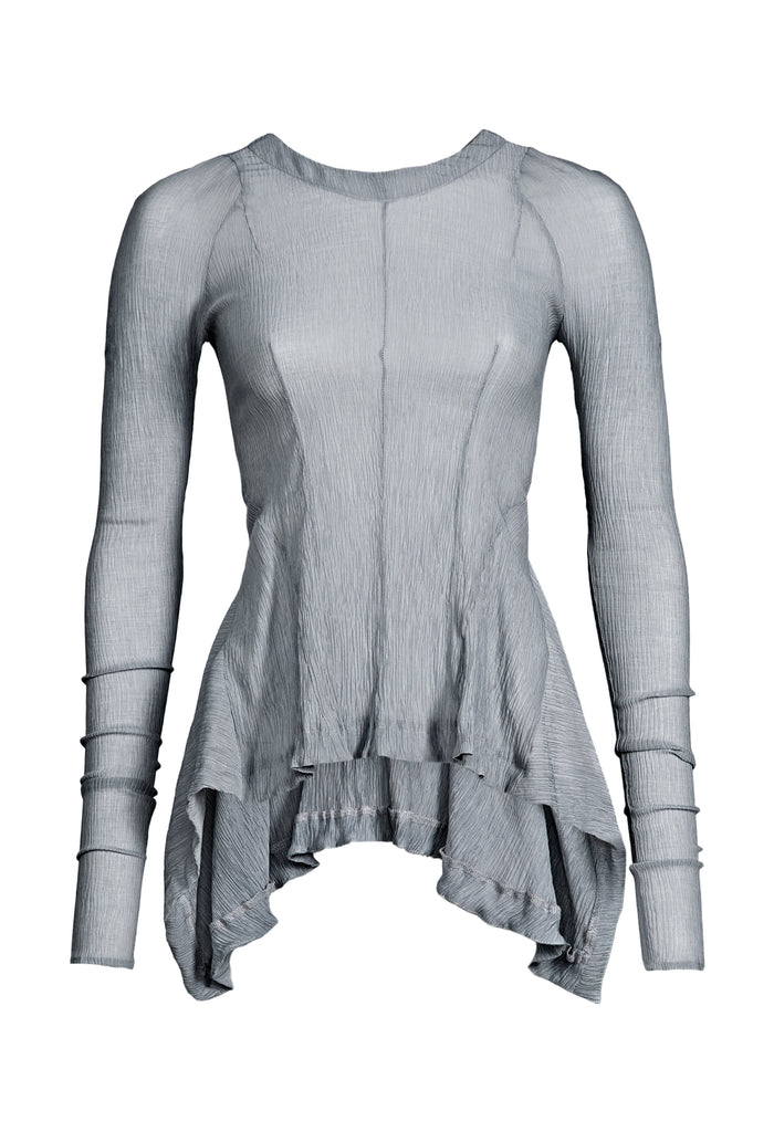 Asymmetric Transparent Grey Longsleeve