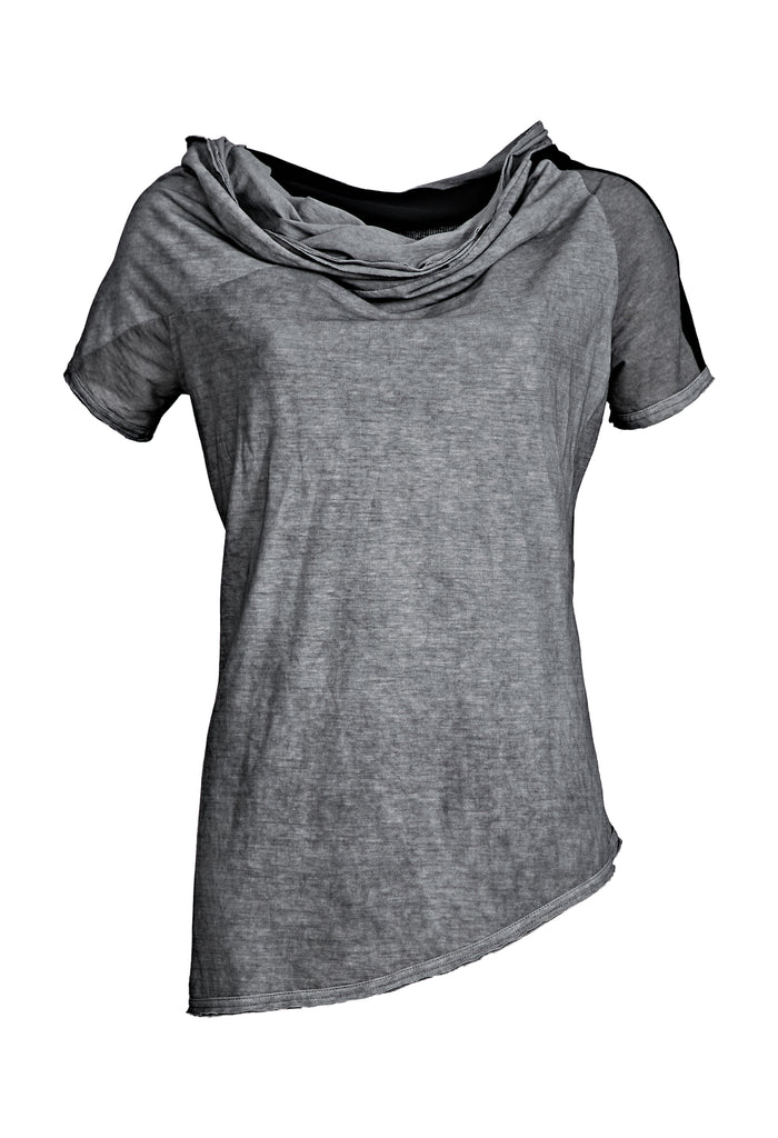 Draped Neckline T-Shirt