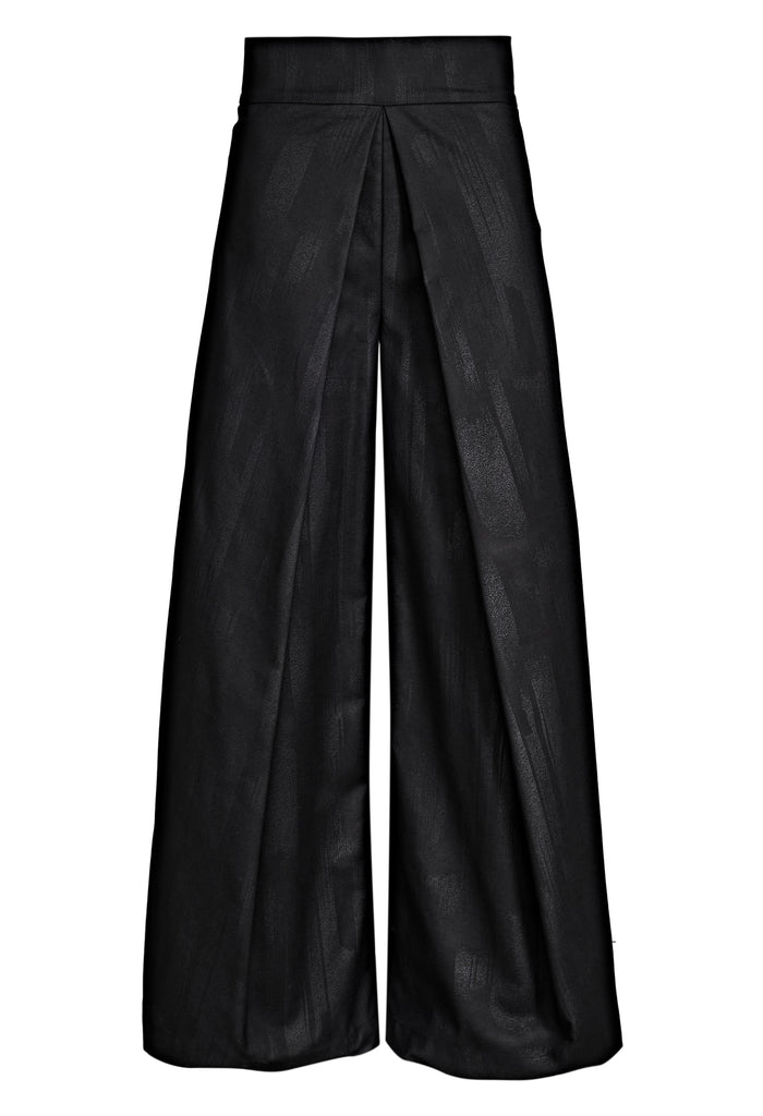 Wide-Leg Overlay Pants