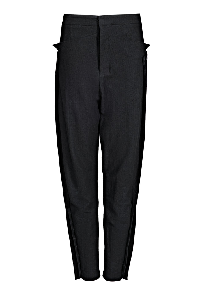 Buttoned Cotton-Blend Pants