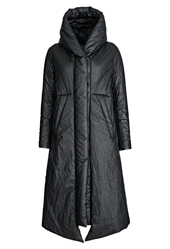 Coated Padded Hooded Coat