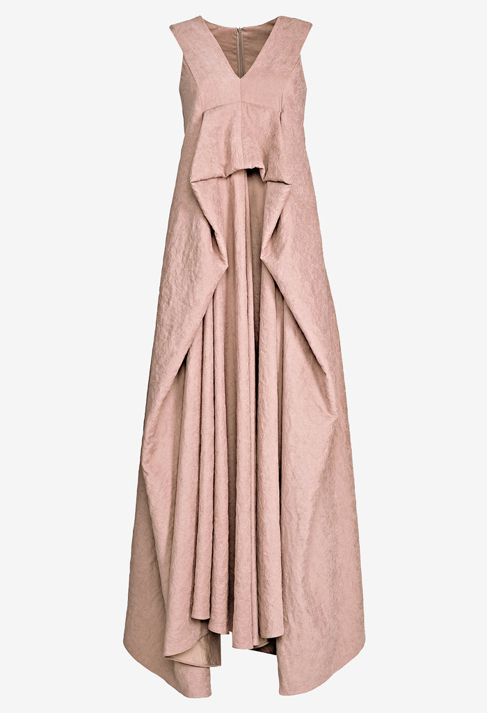 Draped V-neck Dress