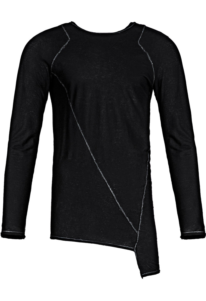 Asymmetric Painted Longsleeve T-Shirt