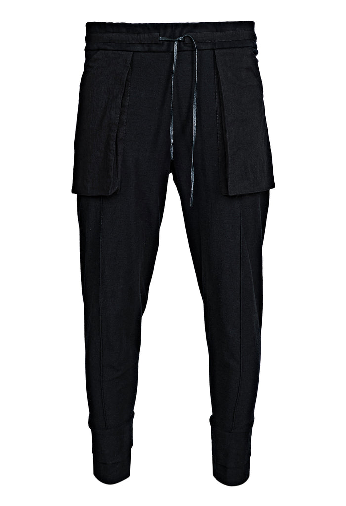 Contrast Cotton Trousers