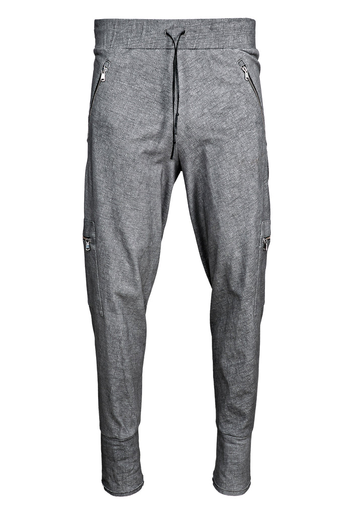 Zipped Cotton Track Pants