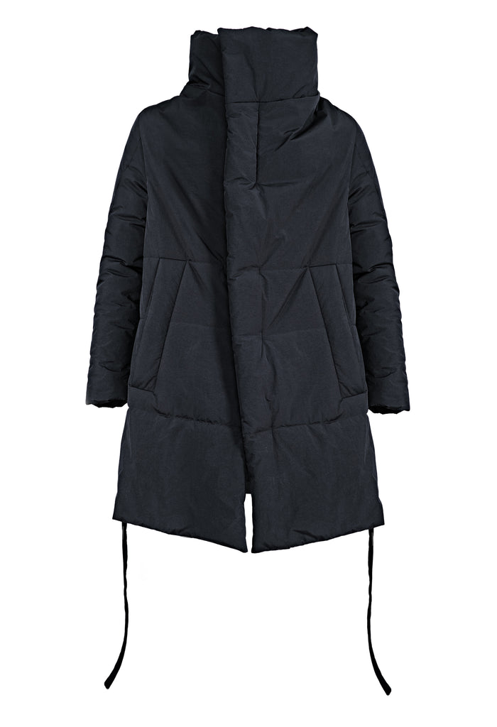 Insulated High Neck A-Shape Coat