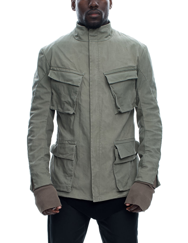 Cargo Pocket Green Jacket