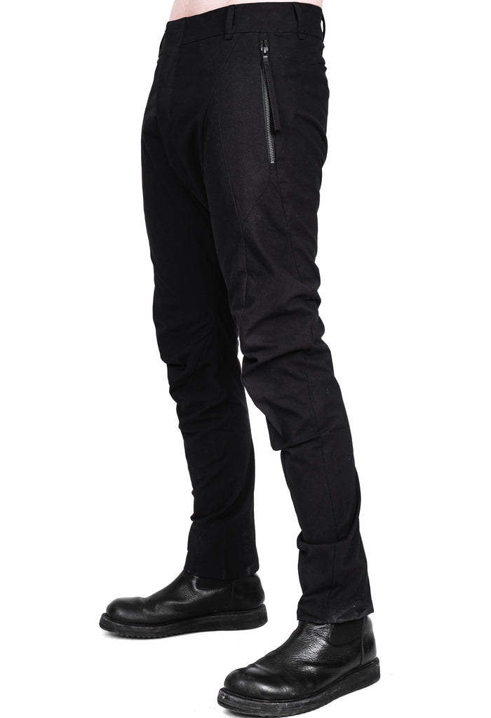 Cotton Stretch Black Pants