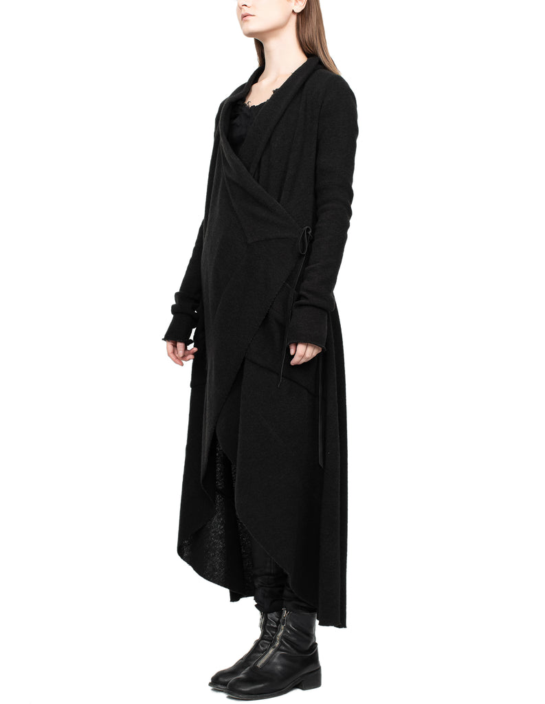 Long Draped Wool Cardigan