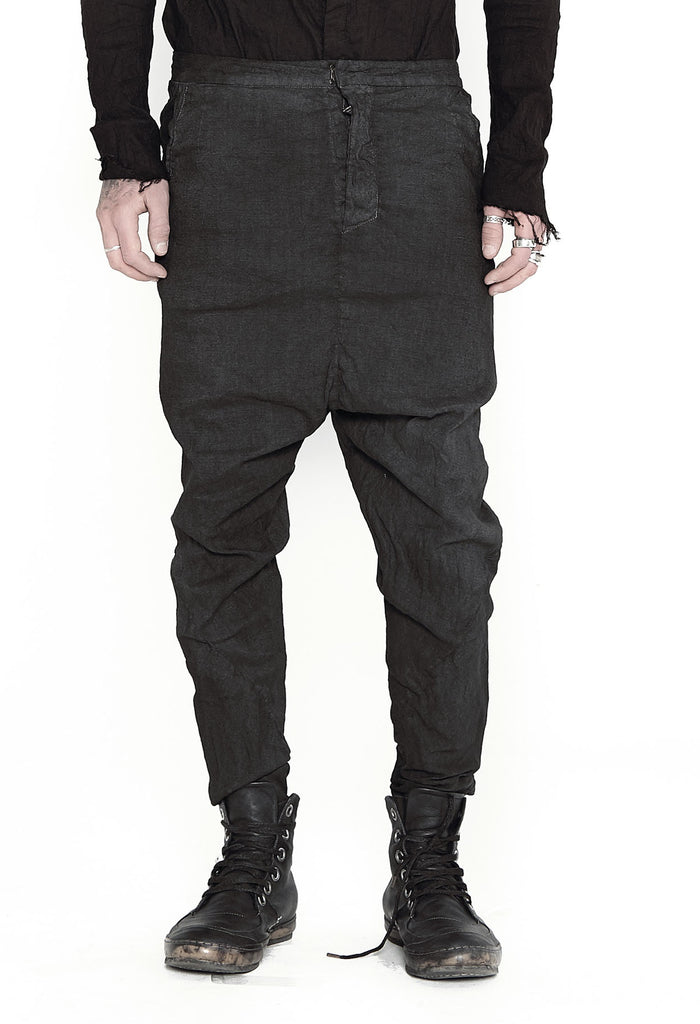 Dropped Crotch Linen Pants