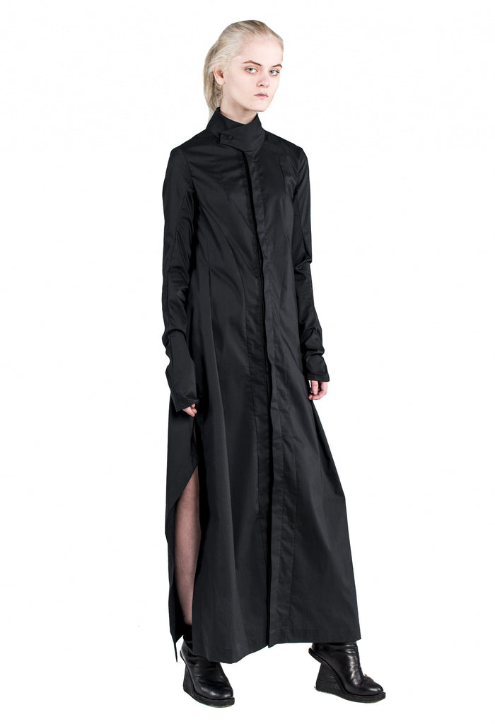Side Slits Maxi Shirt Dress