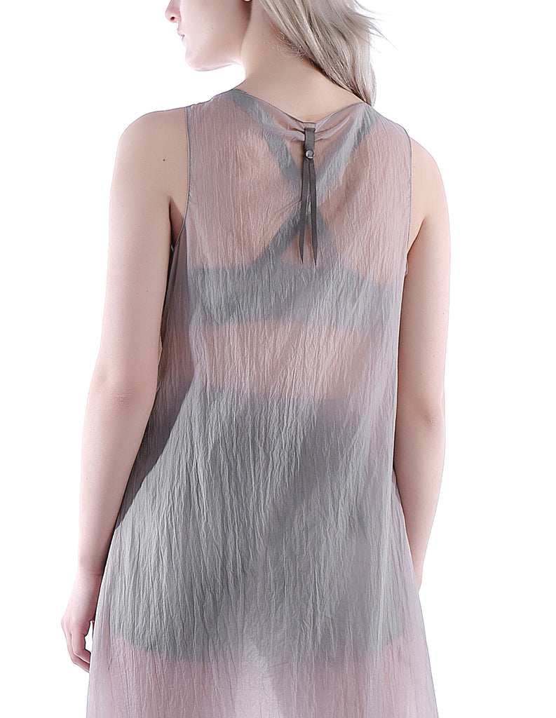 Asymmetric Drape Tank Dress